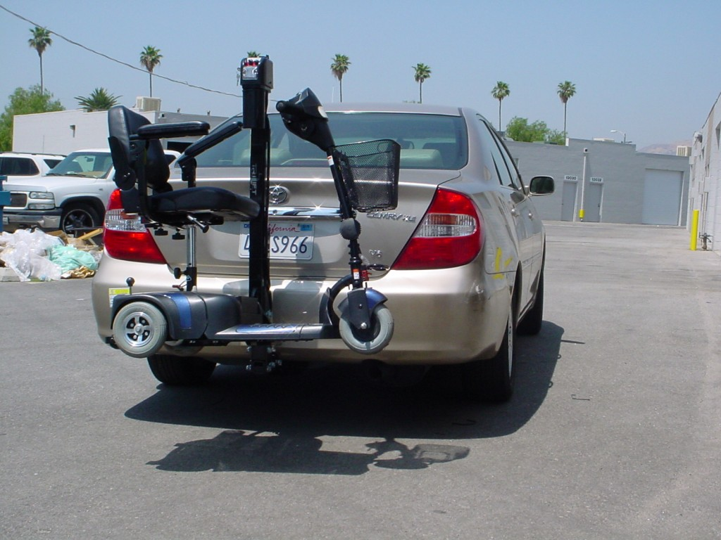 Majors Mobisist RoRo Scooter on a Ultra lite Lift.
